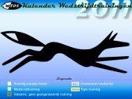 Kalender Wedstrijdtrainingen