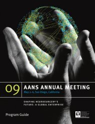 to view the 2009 AANS Final - American Association of Neurological ...