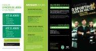 Folheto Comercial - Sporting Clube de Portugal
