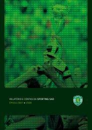 RELATÓRIO E CONTAS DA SPORTING SAD ÉPOCA 2007 » 2008