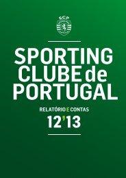 RELATÓRIOE CONTAS - Sporting Clube de Portugal