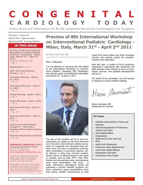 Preview of 8th Interventional Pediatric Cardiology - Milan