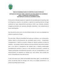 mesa da assembleia geral do sporting clube de portugal exposição ...