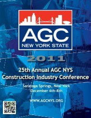 2011 Industry Conf - The Associated General Contractors of New ...