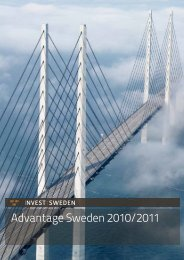 Advantage Sweden 2010/2011 - Invest Sweden