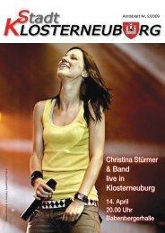 Amtsblatt Nr. 2/2009 - Stadtgemeinde Klosterneuburg