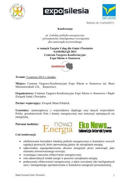 Program konferencji - Expo Silesia