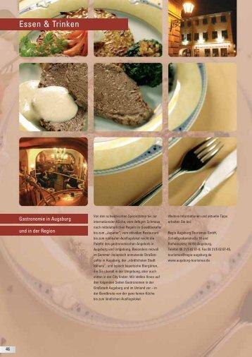 Restaurants in Augsburg und Umgebung (PDF) - Uebernacht Hostel