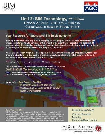 Unit 2: BIM Technology, 2nd Edition