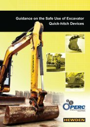 Guidance on the Safe Use of Excavator Quick-hitch Devices