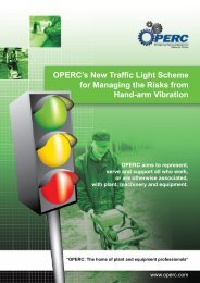 OPERC's New Traffic Light Scheme for Managing the Risks from ...