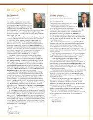 Leading Off - Cornell School of Hotel Administration - Cornell ...