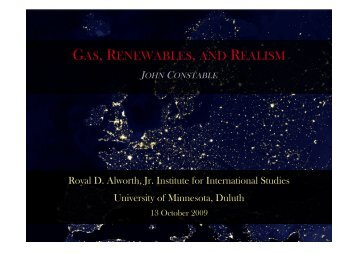 GAS RENEWABLES REALISM