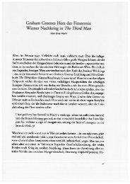 Graham Greenes Herz der Finsternis. Wiener Nachkrieg in