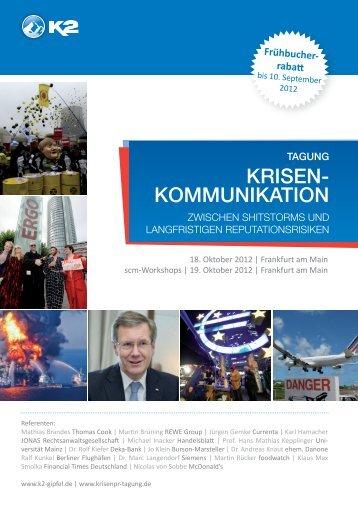 Krisen- KommuniKation - Krisen-PR