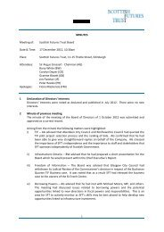MINUTES Meeting of: Scottish Futures Trust Board Date & Time: 17 ...