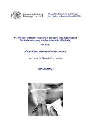 Cannabiskonsum und -missbrauch - DG-Sucht