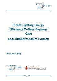 Street Lighting Energy Efficiency Business Case - Scottish Futures ...
