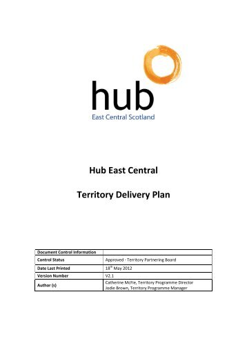 Hub East Central Territory Delivery Plan