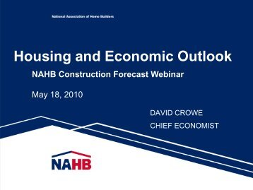 Housing and Economic Outlook