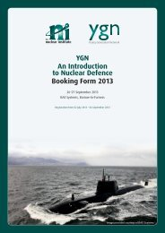 YGN An Introduction to Nuclear Defence Booking Form 2013