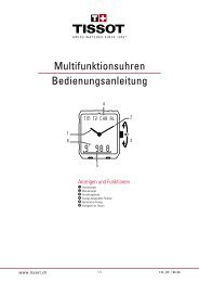 Multifunktionsuhren Bedienungsanleitung