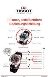 T-Touch, Multifunktions Bedienungsanleitung