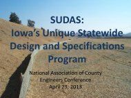 Iowa's Unique Statewide Design and Specifications Program