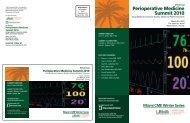Perioperative Medicine Summit 2010 - Cleveland Clinic Center for ...