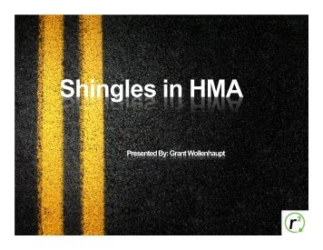 Shingles in HMA