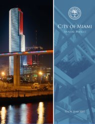 FY'07 Adopted Budget - City of Miami