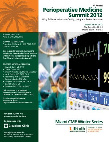 Miami CME Winter Series 2012 - Cleveland Clinic Center for ...