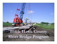 Black Hawk County Short Bridge Program