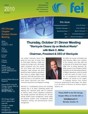 FEI Newsletter October 2010.indd - Financial Executives International
