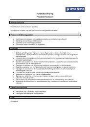 Functiebeschrijving Prepdesk Assistant