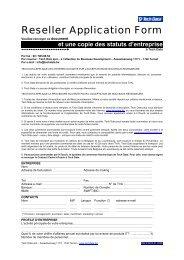 Reseller Application Form