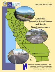 California Statewide Local Streets and Roads Needs Assessment