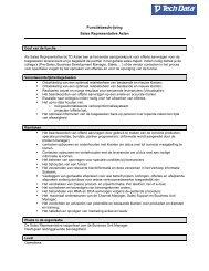 Functiebeschrijving Sales Representative Azlan - Tech Data