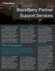 BlackBerry Partner Support Services