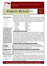 PARENT BULLETIN - Drouin Secondary College