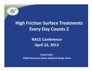 High Friction Surface Treatments Every Day Counts 2