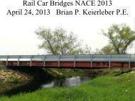 Rail Car Bridges NACE 2013 April 24 2013 Brian P Keierleber P.E
