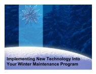 Implementing New Technology Into Your Winter Maintenance Program