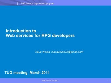 Introduction to Web services for RPG developers