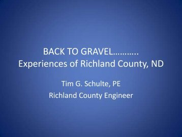 Experiences of Richland County ND