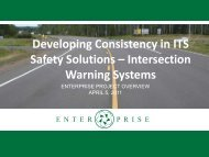 Developing Consistency in ITS Safety Solutions – Intersection Warning Systems