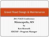 Gravel Road Design & Maintenance Minneapolis MN