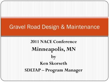 Gravel Road Design & Maintenance Minneapolis MN