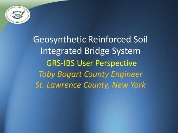 Geosynthetic Reinforced Soil Integrated Bridge System