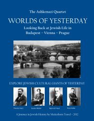 Looking Back at Jewish Life in Budapest ... - Matterhorn Travel